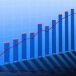 blue bar chart